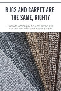 Rugs and Carpet Are the Same, Right