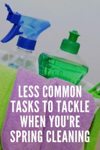 less common spring cleaning tasks