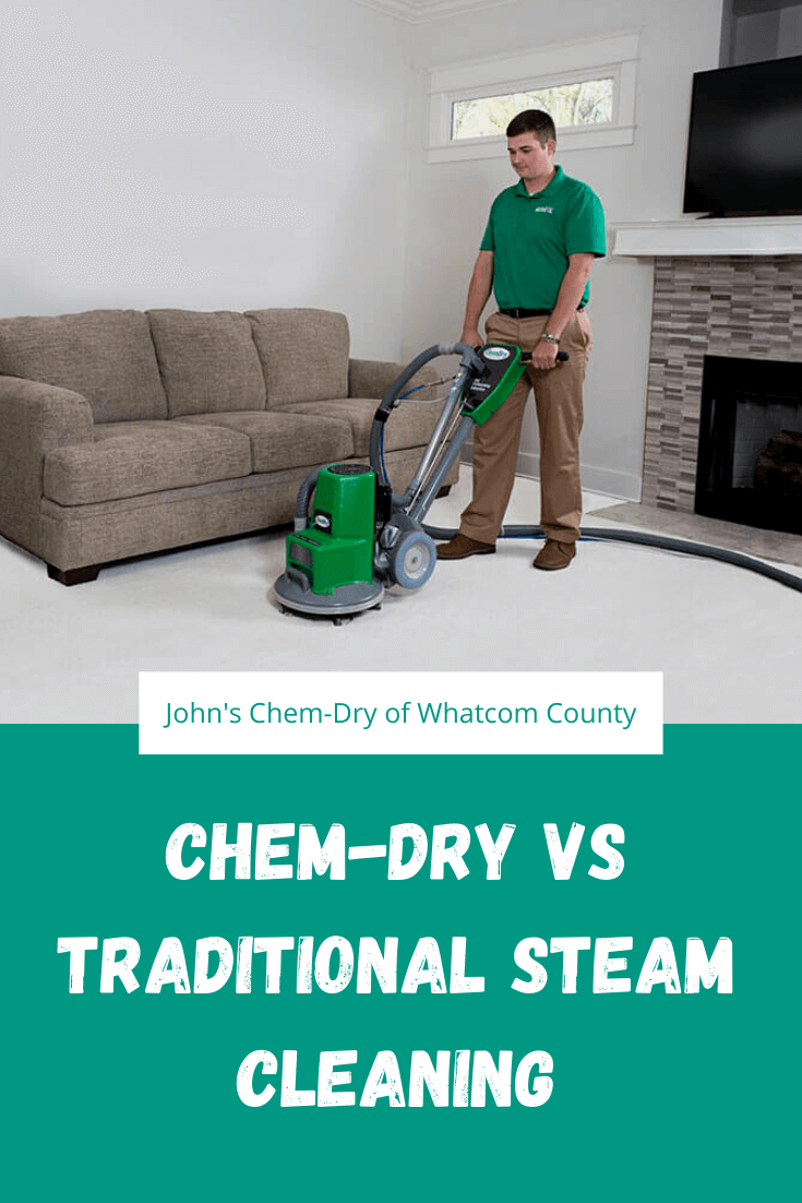 a Chem-Dry carpet cleaner showing why our cleaning is superior to steam cleaners
