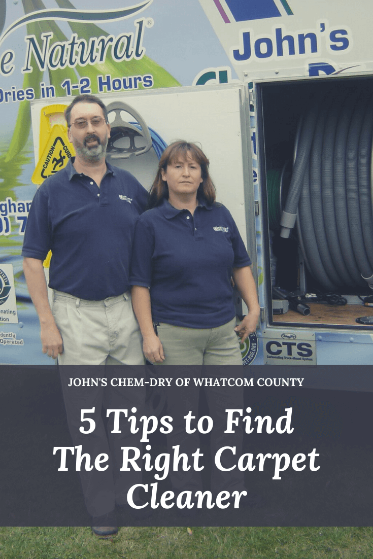 John and Jean Hess, owners of John's Chem-Dry of Whatcom County, stand outside their carpet cleaning van